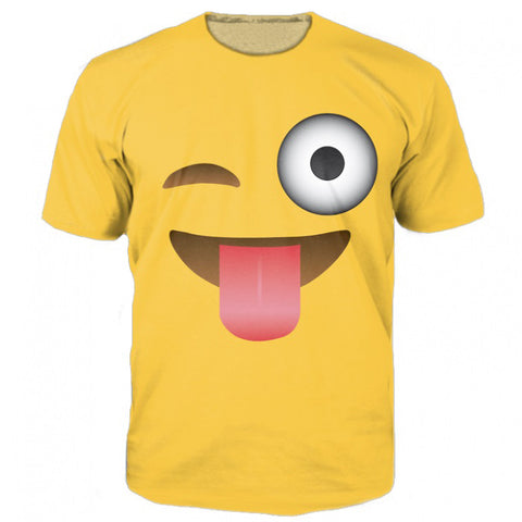Emoji Funny Smiley Men's T-Shirt - Men T-Shirt - Youngerfan