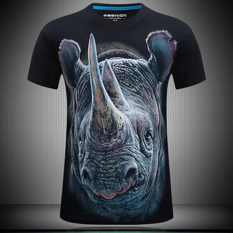 3d Hip Hop Animal Print Men T-shirt