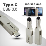 PC Tablet Smartphone USB3 Memory Stick Type-C 3.1 Pen Drive Double Plug - Laptop Accessories - Youngerfan