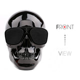 New Plastic Metallic Skull Shape Wireless Bluetooth Speaker - Bluetooth Speaker - Youngerfan