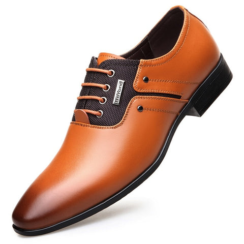 Lace-up Business Oxford Pointy Shoes
