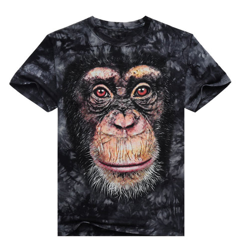 Orangutan short sleeve 3D Fashion Men's T-shirt - Men T-Shirt - Youngerfan
