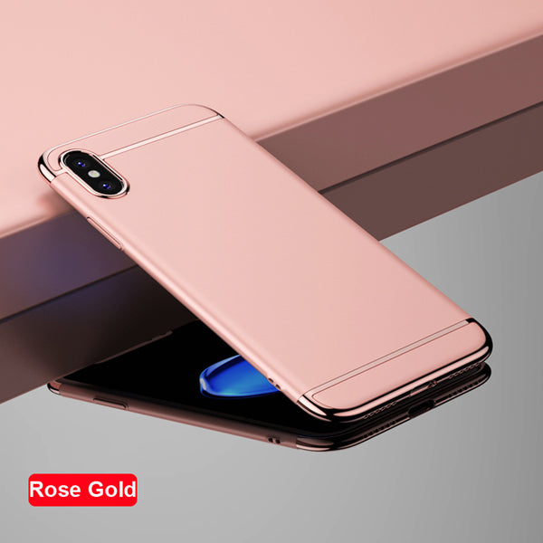 Luxury PC Hard Plating Phone Back Cover For IPhone X