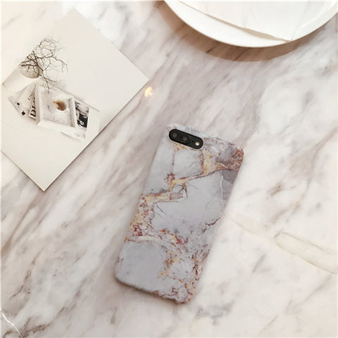 Simple Crack Marble TPU Phone Case For iPHONE X - Phone case - Youngerfan