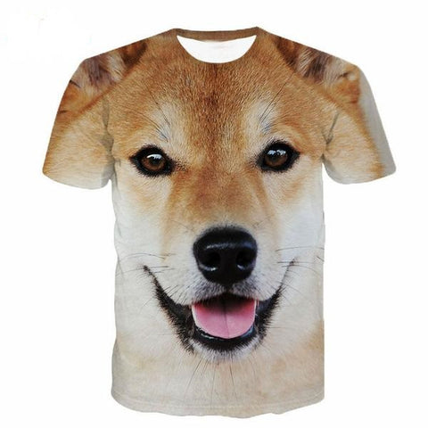 New Fashion Men's / Women's 3d Dog T-shirt