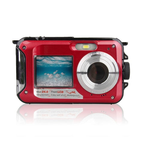 Double Screen Underwater Camera HD Waterproof  Shooting Video Recording - Camera - Youngerfan