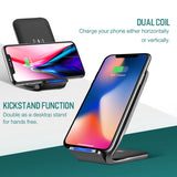 W3 Dual-coil Qi Wireless Charging Stand Wireless Charger - Charger - Youngerfan