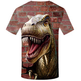 3D Dinosaur Wall T-Shirt Men