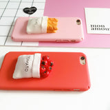 NEW! Fashion DIY 3D Bread Tomato Phone Case