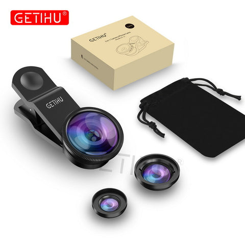 Universal 3 in 1 Wide Angle Macro Fisheye Lens - Cell Phone Accessories - Youngerfan