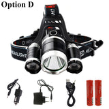 LED headlight 9000 lumens chip 3x XM-L LED-T6 headlight flashlight - Light - Youngerfan