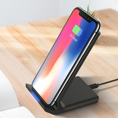 10W Fast Wireless Charging Dock Stand Qi Wireless Charger - Charger - Youngerfan