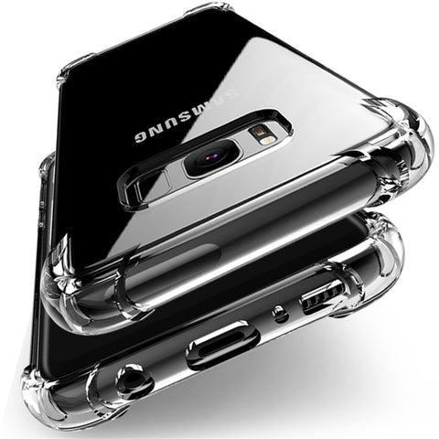Crystal Clear Bumper Cover with Air Cushion for Samsung - Cell Phone Accessories - Youngerfan
