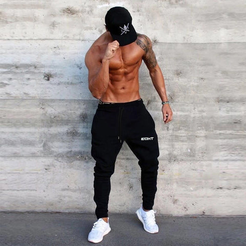 2018 New Men's Slim Gyms Fitness Pants