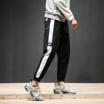 2018 Men Fashion Side Stripe Pants