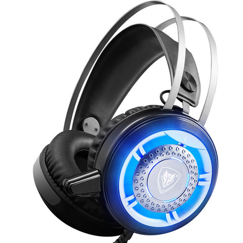 Computer Mic LED Light Wired Gaming Headset