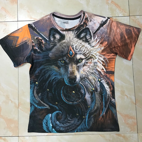 Wolf Warrior by SunimaArt 3D T shirts Men