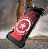 Captain America Armor Heavy Dust CNC Metal Protect Skeleton Head Phone Case Cover - Phone case - Youngerfan