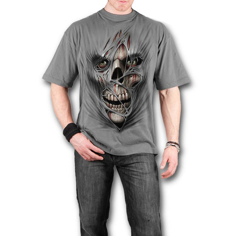 Men's Summer Short Sleeve Zombie Print T-Shirt - Men T-Shirt - Youngerfan