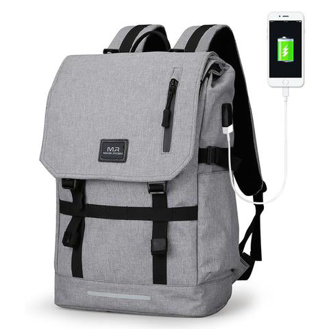 b603b1c6df24 Large Capacity 15.6 Inch Laptop Bag Man USB Design Backpack