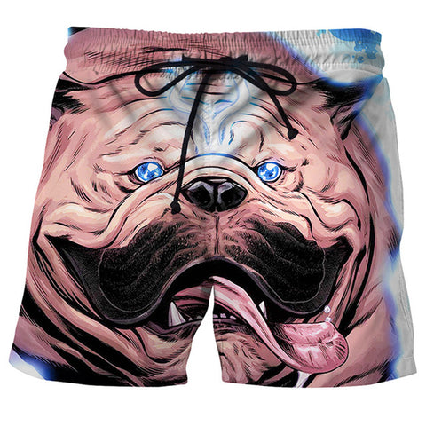 2018 Men's Fashion 3D Dog Summer Shorts