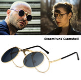2018 Fashion VINTAGE Round  Flip Up Sunglasses