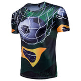 2018 New Men's World Russia Brazil Fan T-Shirt - Men T-Shirt - Youngerfan