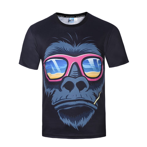 T-shirt Trendy Fashion Gorilla 3D Men