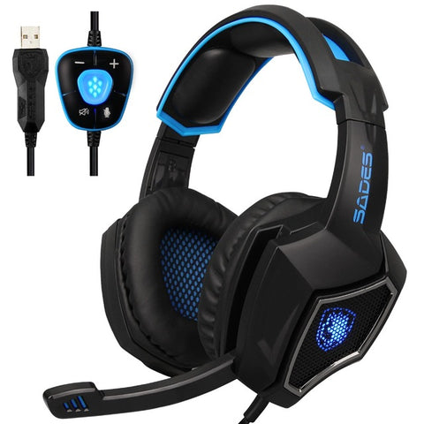 Surround Sound Gaming Headset LED Headphones