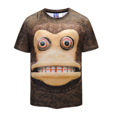 Creative Animated Monkey European Men Street Hip Hop T-shirt - Men T-Shirt - Youngerfan