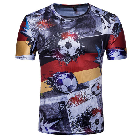 2018 World Cup T-shirt Men's Hip Hop Series - Men T-Shirt - Youngerfan