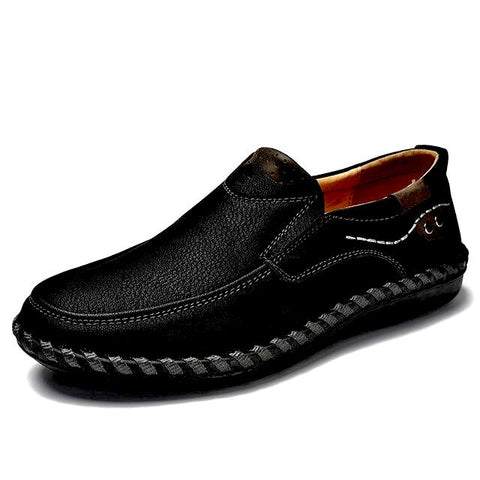 Hand-Sewn High-Quality Leather Casual Shoes