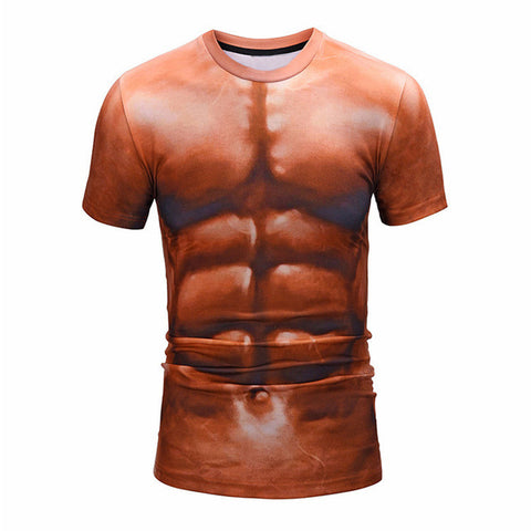 3D Muscle Personality T-Shirt Men