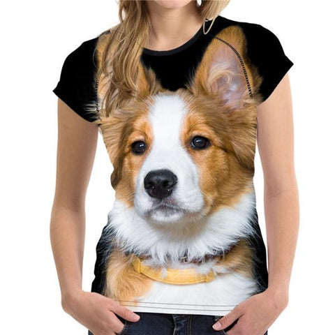 2018 Women's Summer T-shirt 3D Shepherd