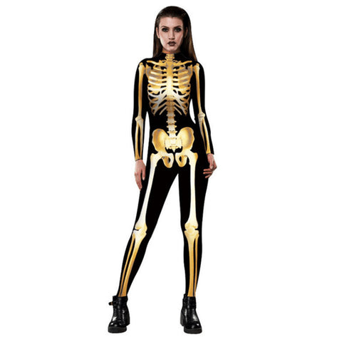 Thriller Skeleton Bodysuit 3D Women's Clothing
