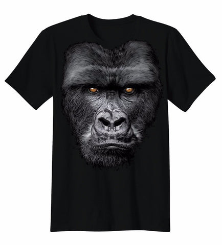 Funny Man Gorilla animal Big Face T-shirt