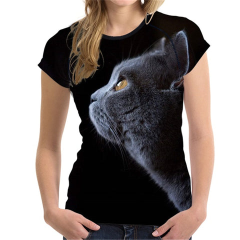 Cute 3D Shorthair Cat Chartreux Tees Fashion
