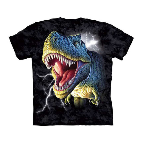 3D Dinosaur Black Shirt Summer