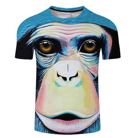 Monkey Print T-Shirt Men