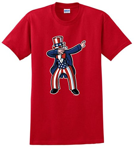 Fun Dabbing Uncle Independence Day T-shirt