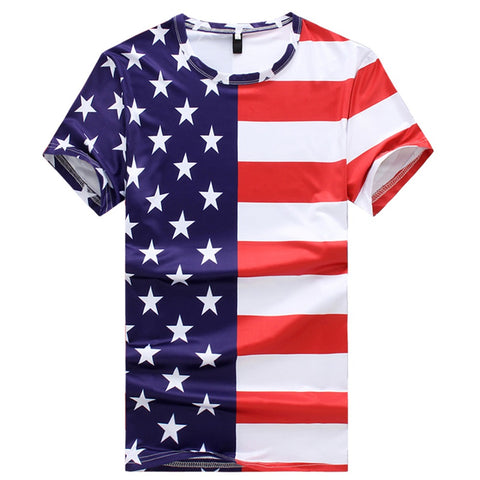 2018 Fashion Flag Stripe Stars Independence Day T-Shirt