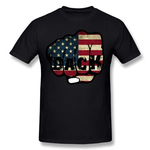 Creative 3D American Flag Excellent Print Short Sleeve O-Neck T-Shirt