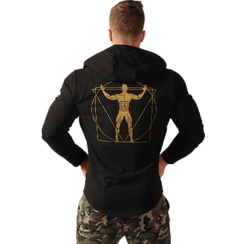 2018 New Autumn Fitness Men Gyms Hoodies Sweatshirt