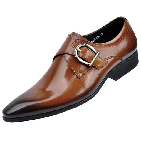 Business Casual Pointed-toe Leather Oxford Shoes