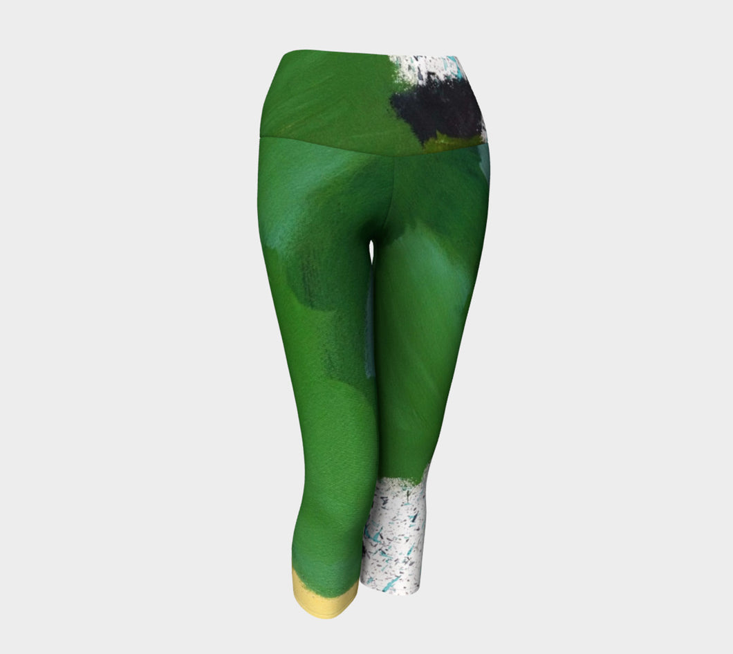 DALY X ACTIVE Mossy Green Yoga Capris