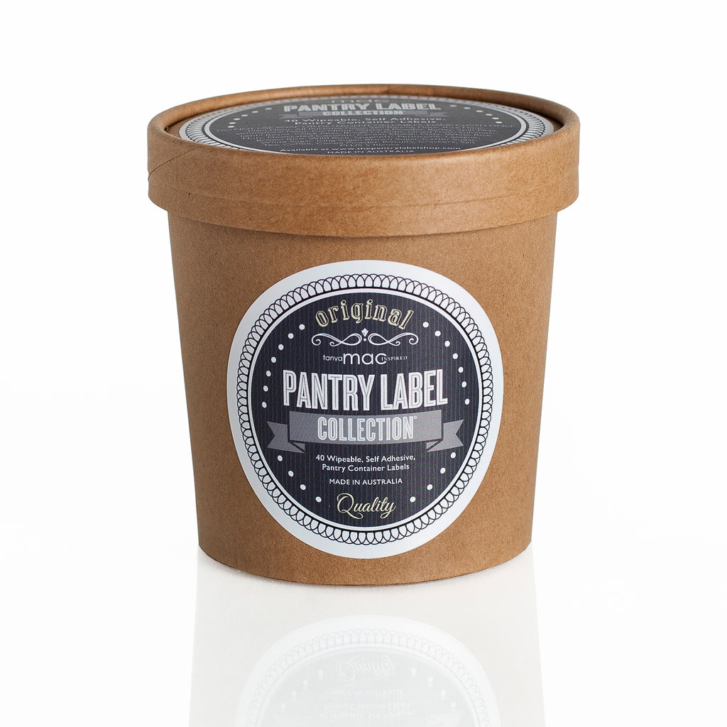 RETRO PANTRY LABEL COLLECTION RECYCLABLE PACKAGING