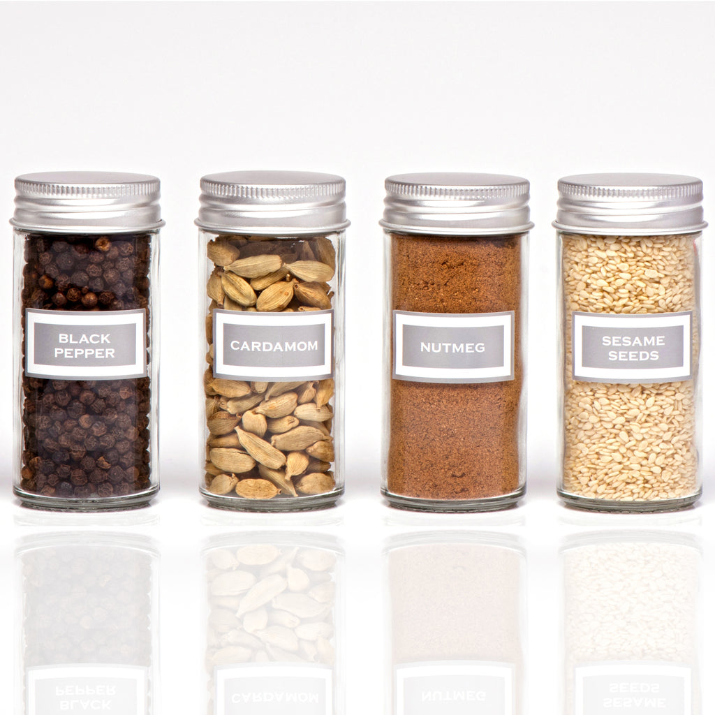 SILVER HERB AND SPICE LABEL COLLECTION