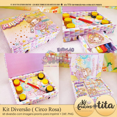 Circo Candy Color Rosa - Kit Diversão