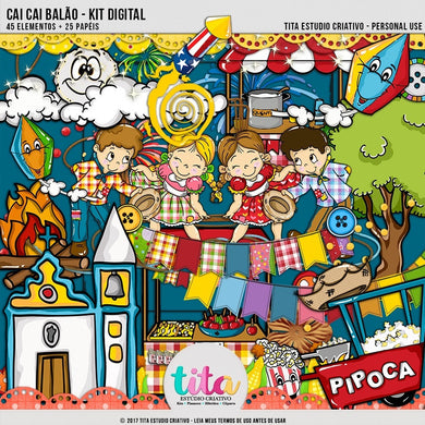 Cai Cai Balão - Kit Digital