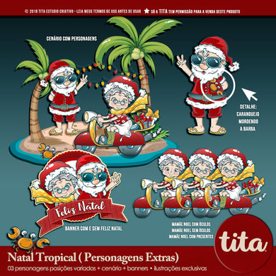 Natal Tropical - Personagens Extras